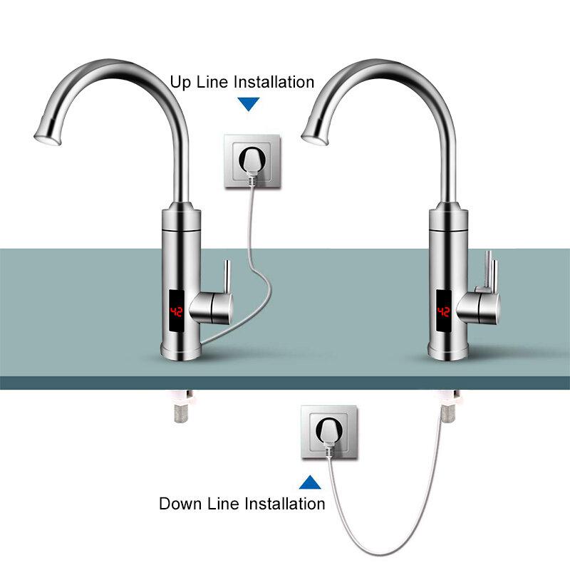 TINTON LIFE Elettrica Riscaldatore di Acqua Senza Serbatoio di Visualizzazione della Temperatura Della Cucina Istantanea di Acqua Calda del Rubinetto 3000W
