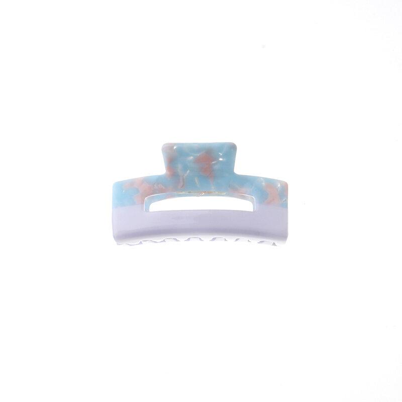 OEM ODM-pinzas en forma de garra para el cabello, color de gran tamaño, logo personalizado, Cuadrado ahuecado, celulosa, cabello de acetato