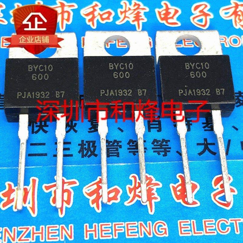 الأصلي 5 قطعة/BYC10-600 إلى-220-2 600V 10A