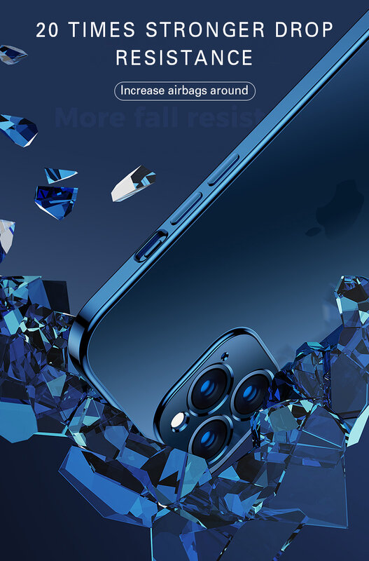 حافظة لهاتف آيفون 11 12Pro Max Mini X XR XS 7 8 Plus SE 2 2020 حافظة شفافة من السيليكون