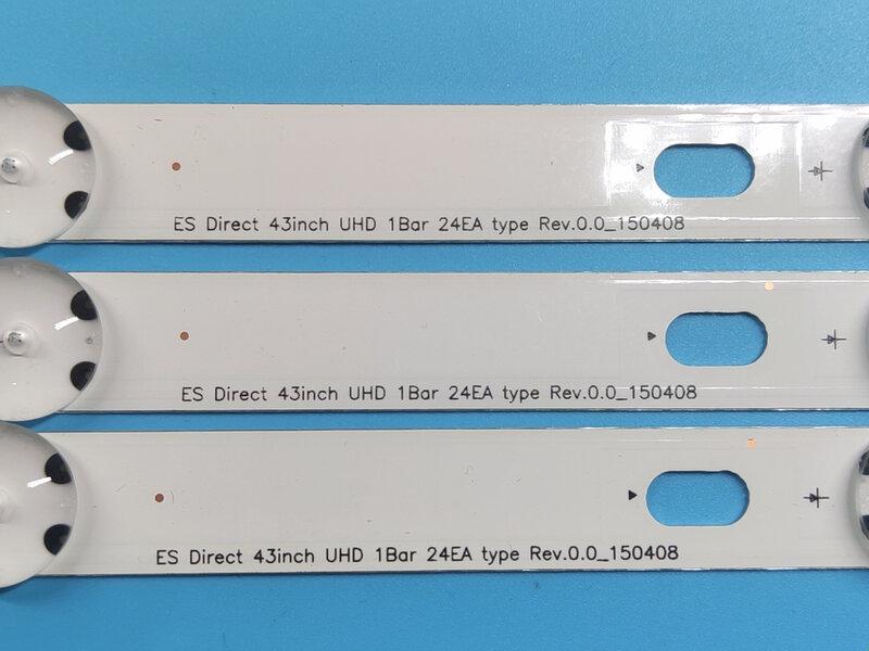 3 PCS 8LED 850mm LED 백라이트 스트립 LG 43UH610A 43UF6409 43UF6400 43UH610V 43UH619V HC430DGN-SLNX1 43UF640V 43UF6407