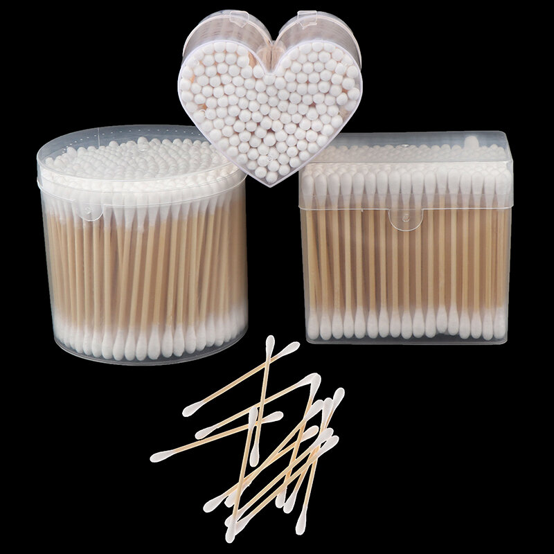 150/200/300 stücke Doppel Kopf Baumwolle Tupfer Frauen Make-Up Baumwolle Knospen Tipp Für Medizinische Holz Sticks Nase Ohren Reinigung gesundheit Pflege Werkzeuge