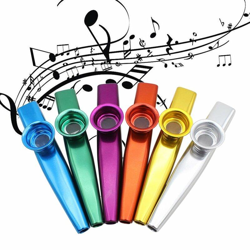 โลหะ Kazoos เครื่องดนตรีขลุ่ย Diaphragm ปาก Kazoos เครื่องดนตรี Good Companion สำหรับกีตาร์