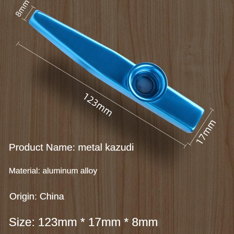 โลหะ Kazoo ขลุ่ยเล่น Instrument Companion เริ่มต้นเรียนรู้ง่ายและขนาดเล็ก,ง่ายต่อการพกพา,เล็กประกอบเครื่อง...