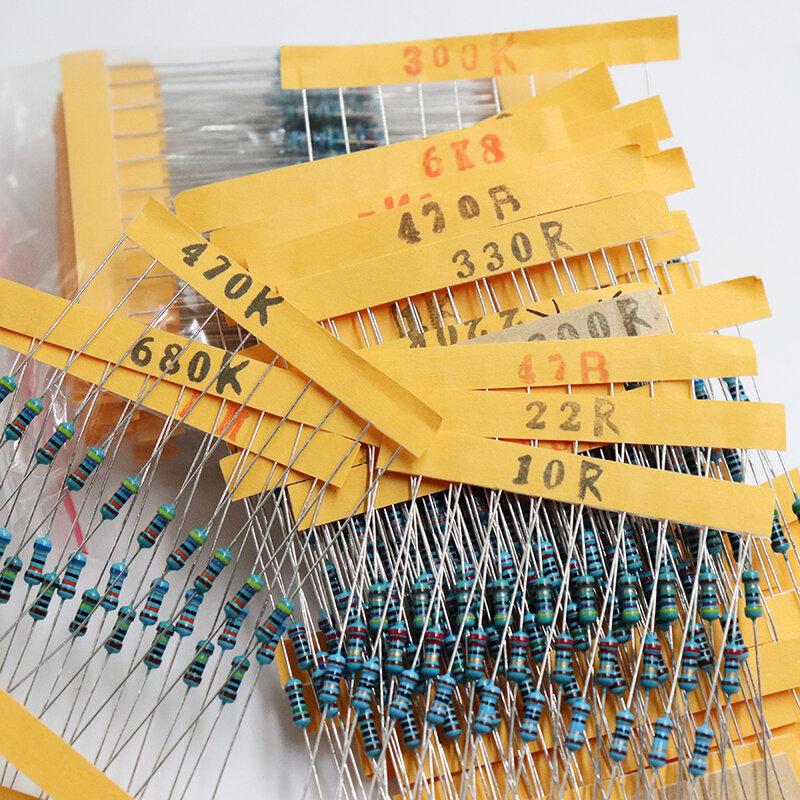 300 Uds 10 -1M Ohm 1/4w resistencia 1% de película de Metal juego surtido de resistencias de 30 tipos * 10 Uds = 300 Uds envío gratis