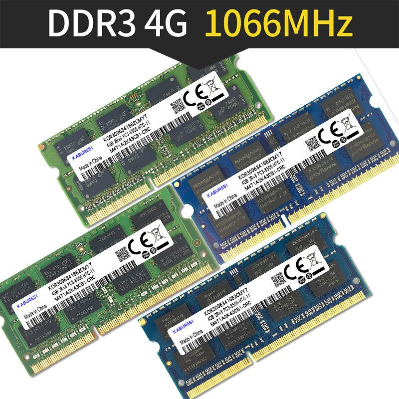 Binful DDR3 2GB/4GB 1066MHz 1333MHz 1600MHz PC3-8500 PC3-10600 PC3-12800 SODIMM ذاكرة عشوائية Ram ميموريال ram ل الدفتري المحمول