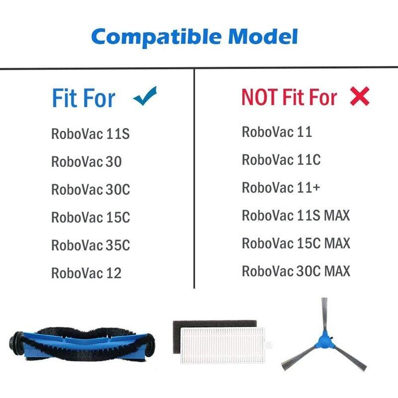 Ersatz Teile Zubehör für Eufy RoboVac 11S 12 15C 30 30C 35C Filter Seite Pinsel Pinsel Schutz Teile Kit