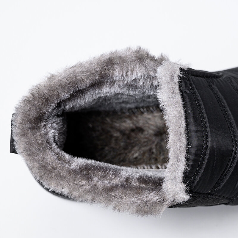 Bottines d'hiver en fourrure épaisse pour homme, chaussures de neige chaudes et imperméables, unisexe