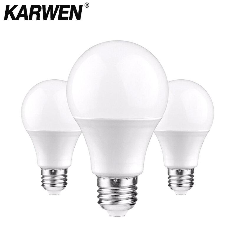 KARWEN 2 قطعة/الوحدة LED لمبة مصابيح E27 E14 ضوء لمبة 220 فولت الذكية IC 3 واط 6 واط 9 واط 12 واط 15 واط 18 واط 20 واط عالية السطوع Lampada LED Bombillas