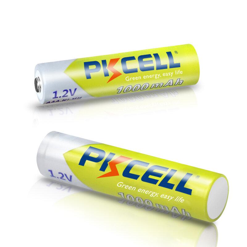 8 قطعة PKCELL AAA بطارية 1.2 فولت ni-mh AAA بطاريات قابلة للشحن 1000 مللي أمبير 3A aaa بطارية مصباح مع 2 قطعة AAA/AA بطارية حامل