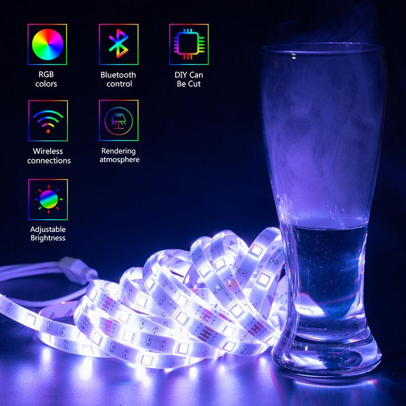 5050 Led luci strisce RGB diodo nastro adattatore di alimentazione Controller Bluetooth per la casa 5M 10M 15M 20M illuminazione di sfondo Luces LED