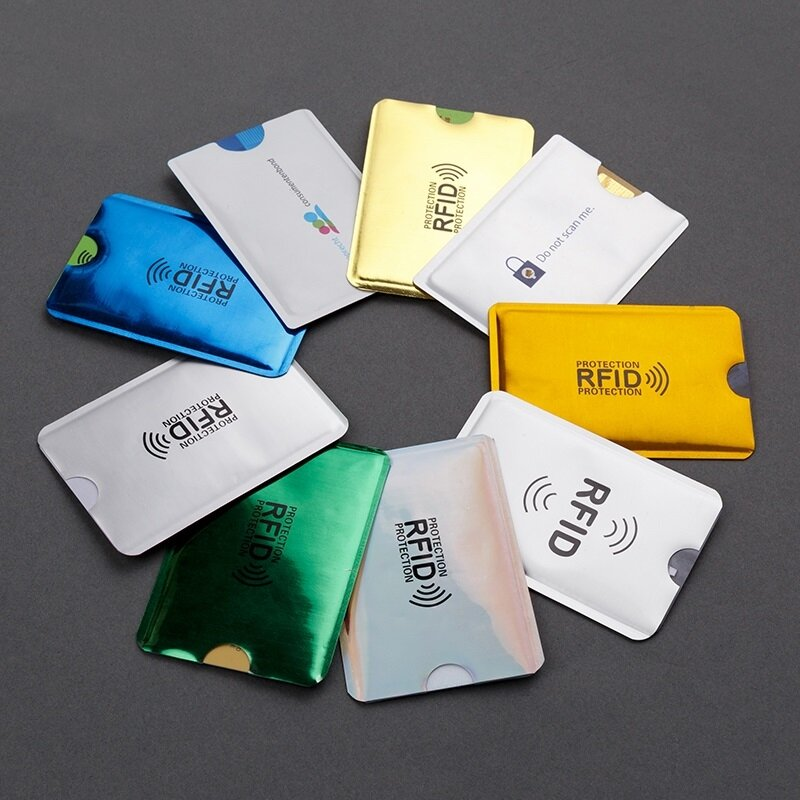 1-5-10-20PCS 안티 Rfid 카드 홀더 NFC 차단 리더 잠금 Id 은행 카드 케이스 보호 금속 신용 카드 케이스 알루미늄