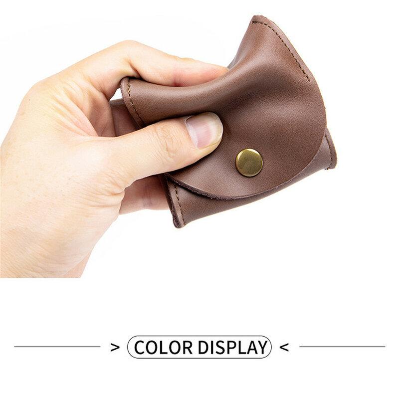 정품 가죽 남성 지갑 Hasp 디자인 비즈니스 남성 동전 지갑 패션 Protable 지갑 카드 홀더