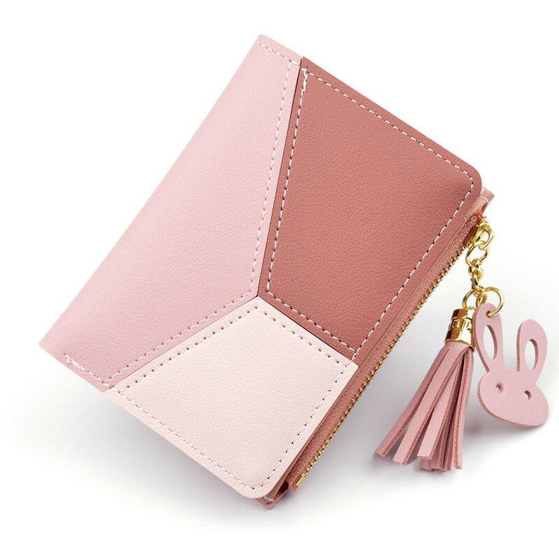 Aelicy 가죽 작은 지갑 여성 럭셔리 유명 미니 여성 지갑 지갑 여성 짧은 동전 지퍼 지갑 신용 카드 홀더
