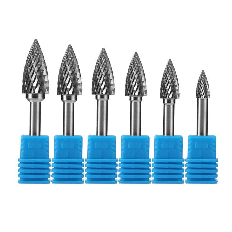 Hand werkzeuge GX typ Kopf Hartmetall alloy Rotary datei Ratte-schwanz datei schneider für holz Werkzeuge Punkt Grat die Grinder Schleif
