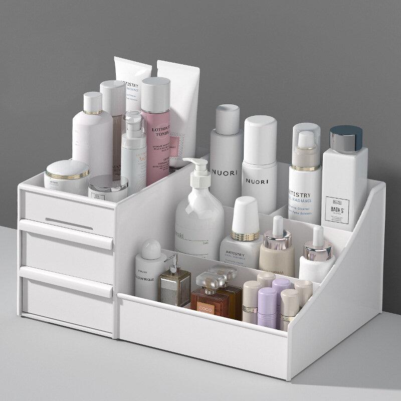 Kosmetik Make-Up Organizer mit Schubladen, Kunststoff Bad Hautpflege Lagerung Box Pinsel Lippenstift Halter Organisatoren Lagerung