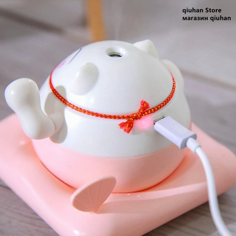 Glückliche Katze Luftbefeuchter Ätherisches Öl Aroma Diffusor Ultraschall USB Mini Zerstäuber Büro Lernen Schule Nette Diffusor Auto Humi