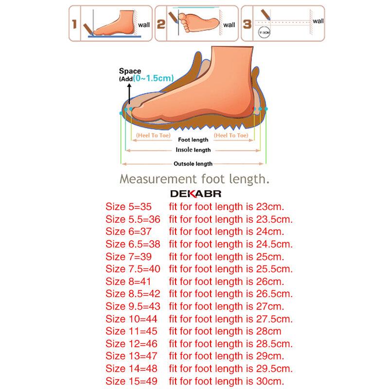 DEKABR – mocassins de grande taille en daim et cuir de vache pour hommes, chaussures de conduite de haute qualité, nouvelle collection 2021