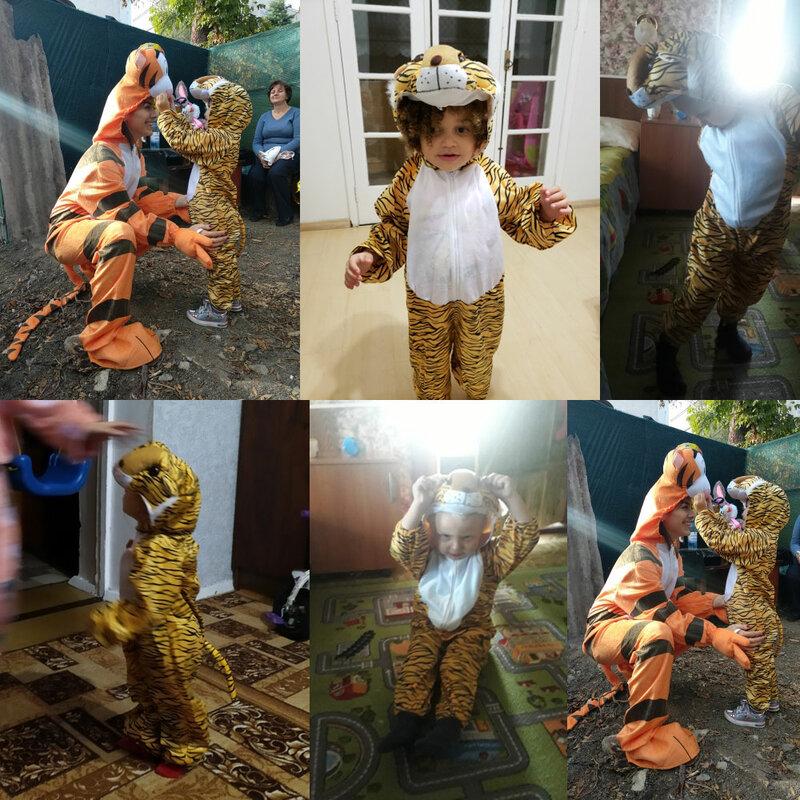 زي أطفال Umorden ، زي ديناصور ، نمر ، فيل ، أزياء الهالوين, زي أطفال بأشكال حيوانات كوسبلاي