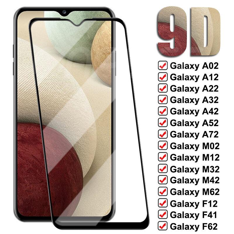9D Có Kính Cường Lực Dành Cho Samsung Galaxy Samsung Galaxy A02 A12 A22 A32 A42 A52 A72 M02 M12 M32 M42 M62 Kính Cường Lực f02S F12 F41 F52 F62 Phim