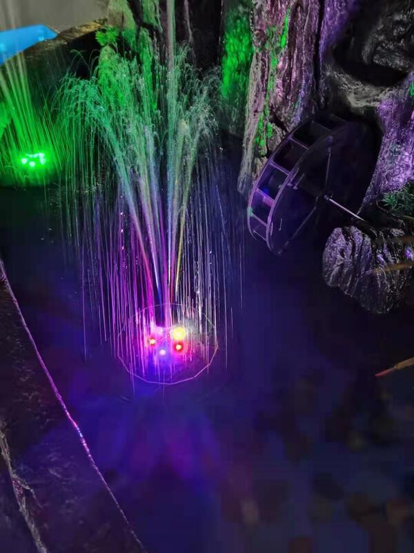 19CM 플로팅 태양 분수 다채로운 LED 조명 정원 물 분수 풀 장식 태양 전지 패널 전원 분수 워터 펌프