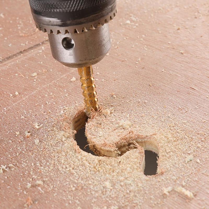 HSS Bohrer Werkzeug Set 1/10PC 3-8mm Titan Beschichtet Sägezahn Bit Holz Metall Kunststoff loch Einstechen Kit Holzbearbeitung Werkzeuge
