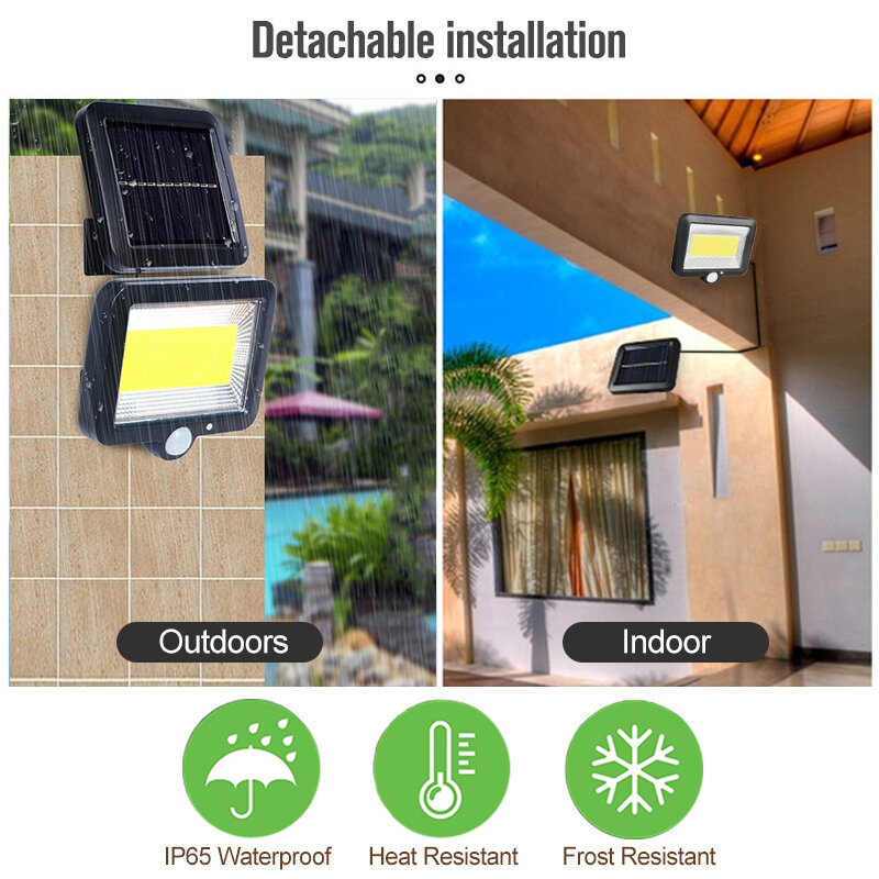 태양 LED 빛 정원에 대 한 야외 Led 태양 램프 야외/실내 방수 정원/차고 장식 차고 빛 3 모드 제어