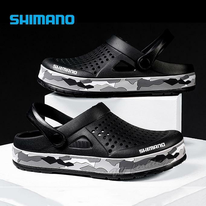 Shimano ตกปลารองเท้าแตะใหม่ชายชายหาดรองเท้าแตะยางแบน Breathable Zuecos Hombre Klompen รองเท้า
