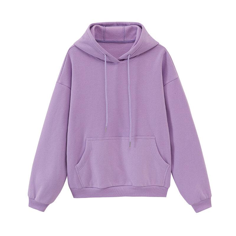Toppies Damen Trainingsanzüge Mit Kapuze Sweatshirts 2020 Herbst Winter Fleece Oversize Hoodies Feste Pullover Jacken Unisex Paar