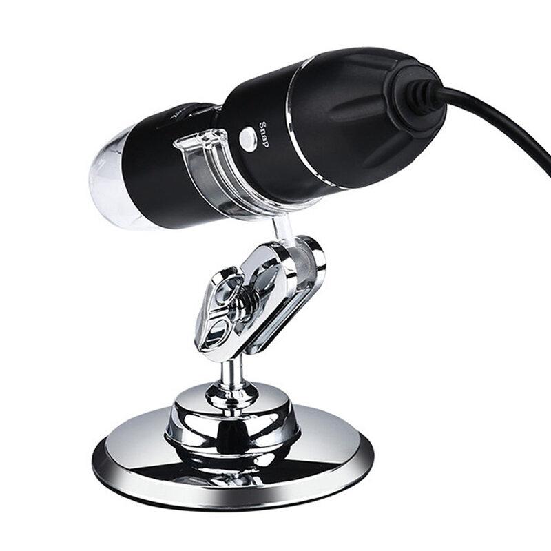 Einstellbare 1600X 3 in 1 USB Digital Mikroskop Typ-C Elektronische Mikroskop Kamera Für Solding 8 LED Zoom Lupe endoskop
