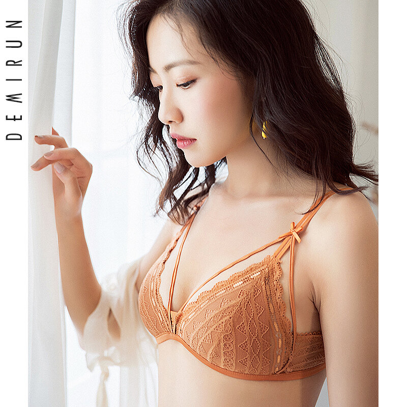 [Clearance] Women's Underwear Wireless Suit Push up Breast Holding Lace Small Sized Bra Sexy Bra Summer Adjustable