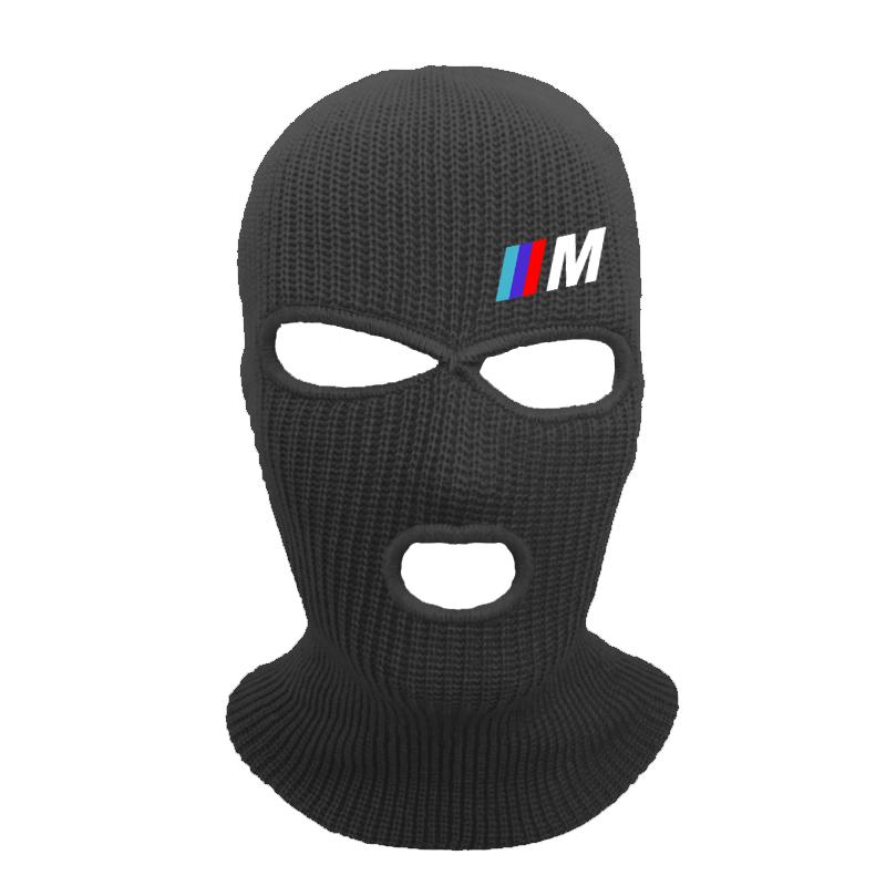 Bmw M imprimir máscara de cobertura de la cara completa tres 3 Agujero pasamontañas gorro de invierno tejido esquí bicicleta máscara gorrita sombrero bufanda cara máscaras