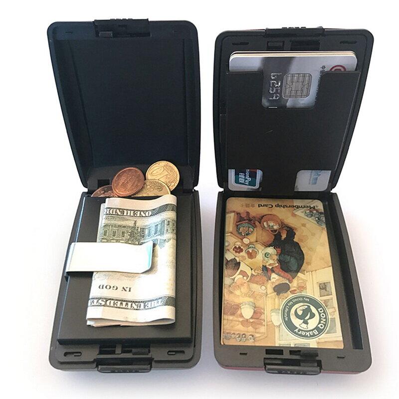2021 새로운 알루미늄 금속 Bankcard 차단 하드 케이스 지갑 신용 카드 안티 RFID 스캐닝 남성과 여성을위한 홀더를 보호