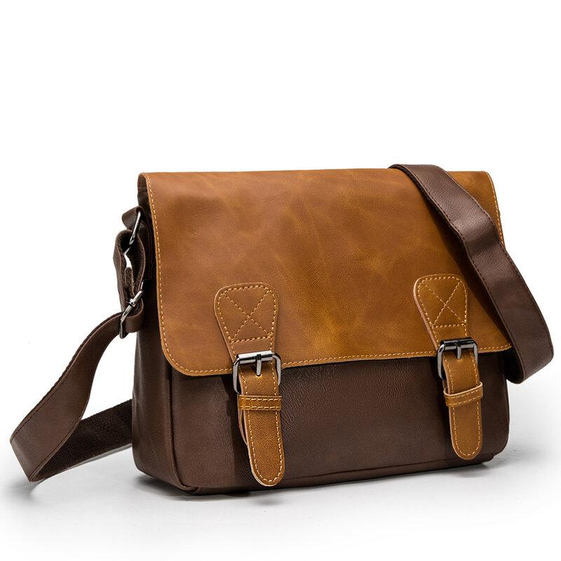 Versátil cerrojo de los hombres, bolso de mensajero de hombro bolsos cruzados para hombre Cuero clásico hombre cabestrillo bolsas