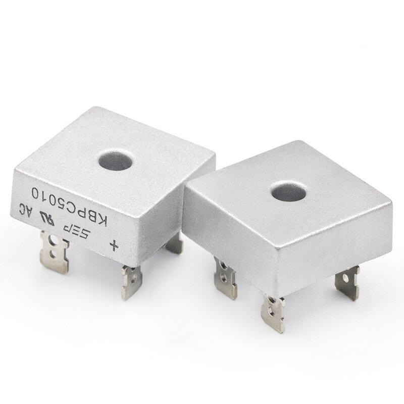 2 قطعة KBPC5010 50A 1000V ديود جسر المعدل kbpc5010