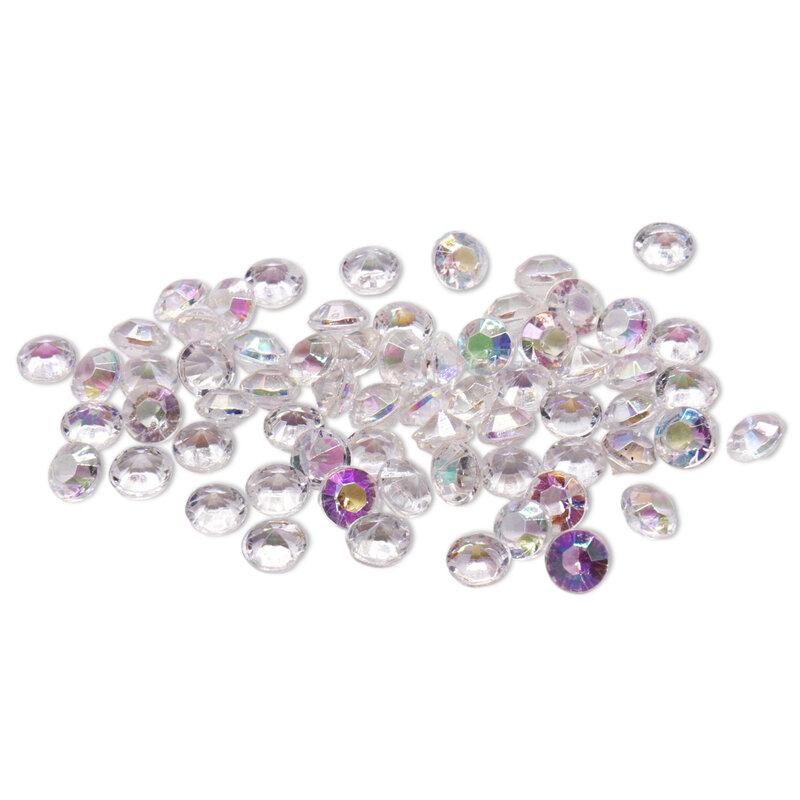 Decoración de boda, 1000 Uds., 4,2mm, artesanías, confeti de diamante, cristales transparentes, centro de mesa, suministros festivos para fiestas y eventos