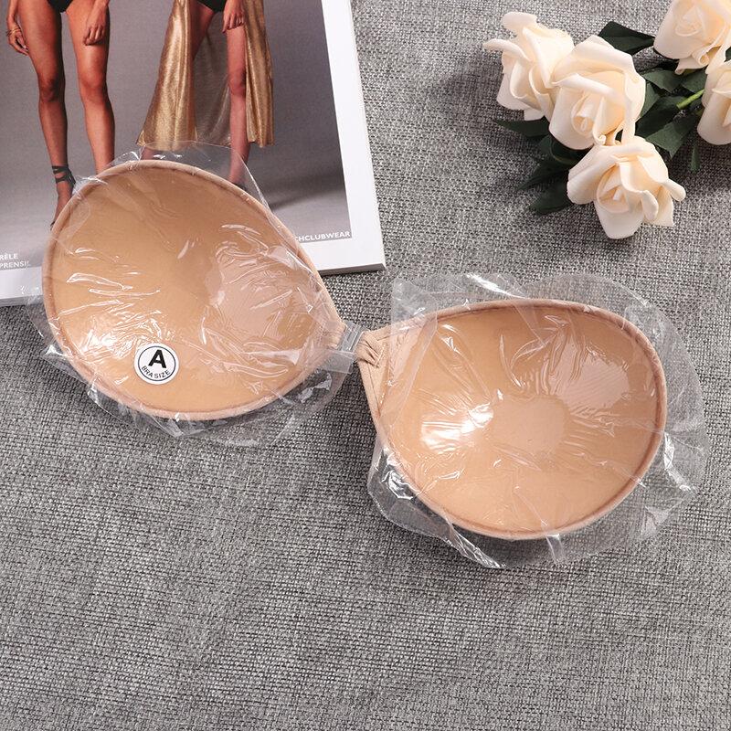 เซ็กซี่ Sujetador ผู้หญิง Bra ที่มองไม่เห็น Push Up Self-Adhesive ซิลิโคนไม่มีรอยต่อด้านหน้า Sticky Backless Bra