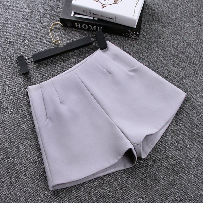 2021 Nuevo Verano Moda Popular Nueva Falda Tipo Pantalon Corto Para Mujer De Cintura Alta Traje De Pantalones Cortos Blanco Y Negro Para Mujeres Pantalones Cortos Shorts Mujer Pantalones Cortos