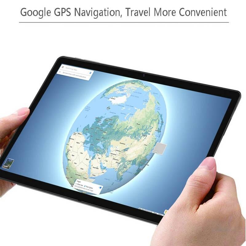 10.1 นิ้วแท็บเล็ตพีซี Android 7.0 Google Play 3G โทรศัพท์แท็บเล็ต Dual SIM การ์ด WIFI WIFI GPS Bluetooth 2.5D หน้าจอแก้ว Toughened