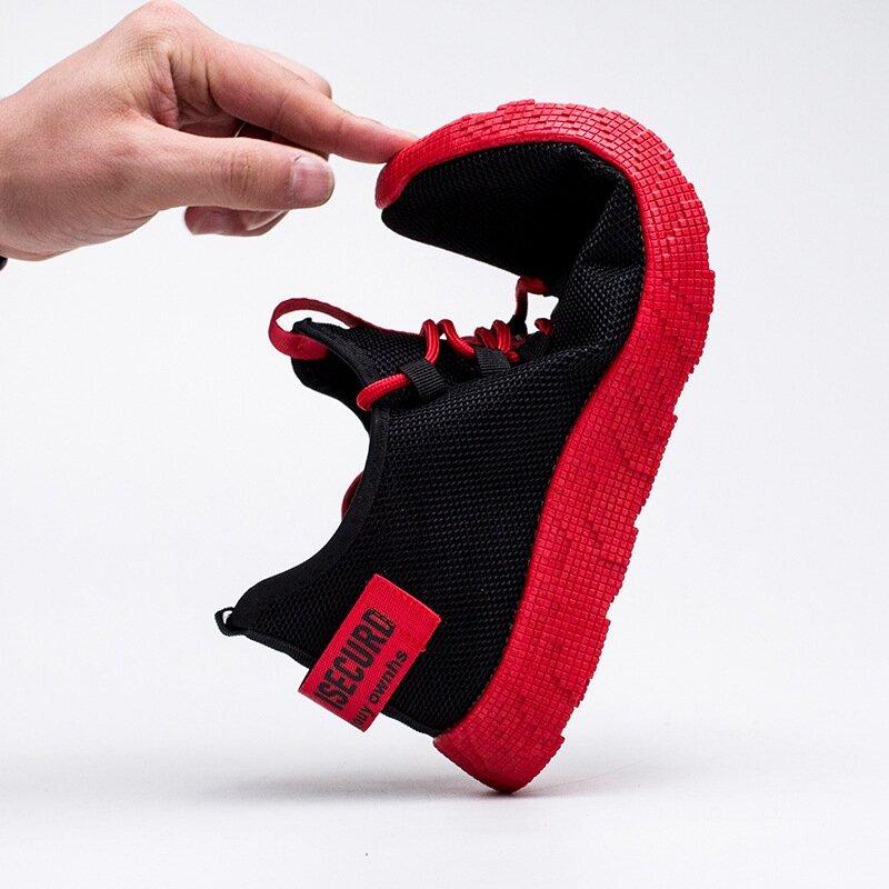 Baskets respirantes et antidérapantes pour homme, chaussures avec une semelle en caoutchouc, résistantes à l'usure, décontractées, en mailles et à lacets, 2019