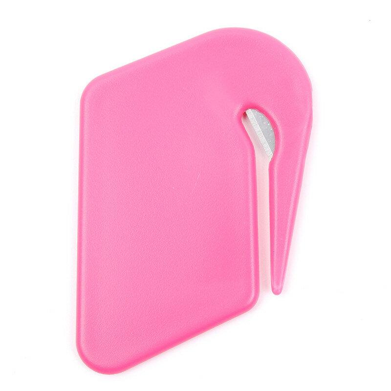 Mini cuchillo de letras de plástico, abridor de sobres de correo, hoja de corte de seguridad, equipo de oficina, Color aleatorio
