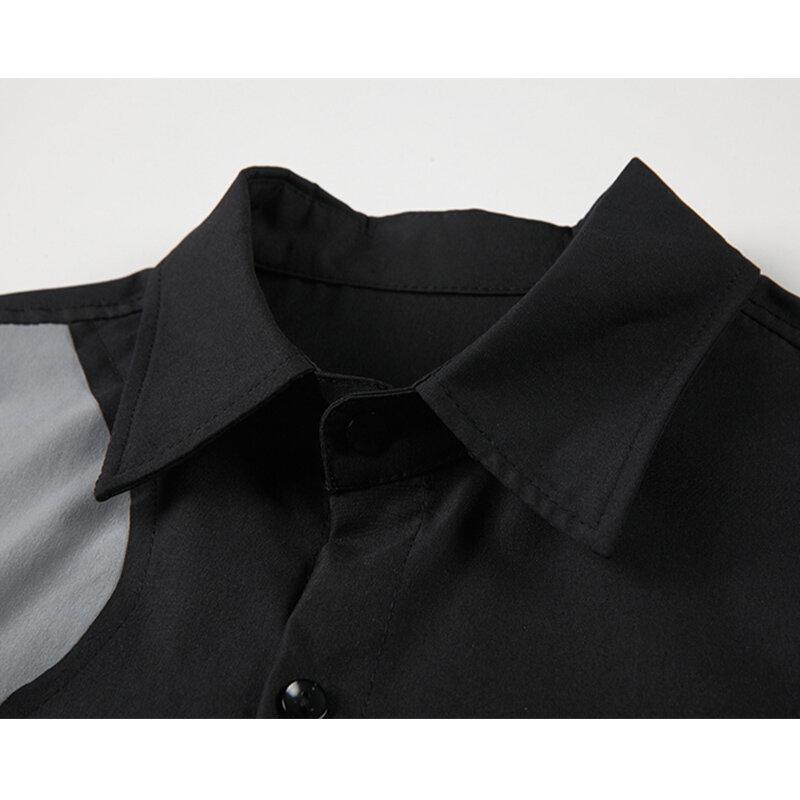 بلوزة حريمي قميص كوري عصري لوحة جانبية أنيقة مزينة بأكمام طويلة بلوزة حريمي للخريف 2021