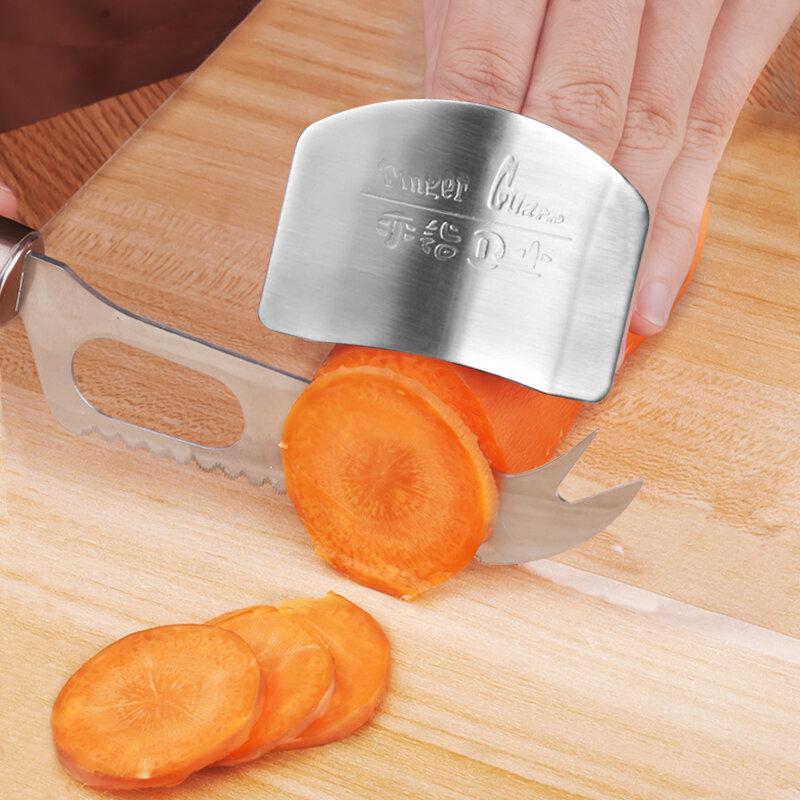 ปรับสแตนเลสสตีลFinger Protector GuardปลอดภัยSlicerครัวต้องมี!