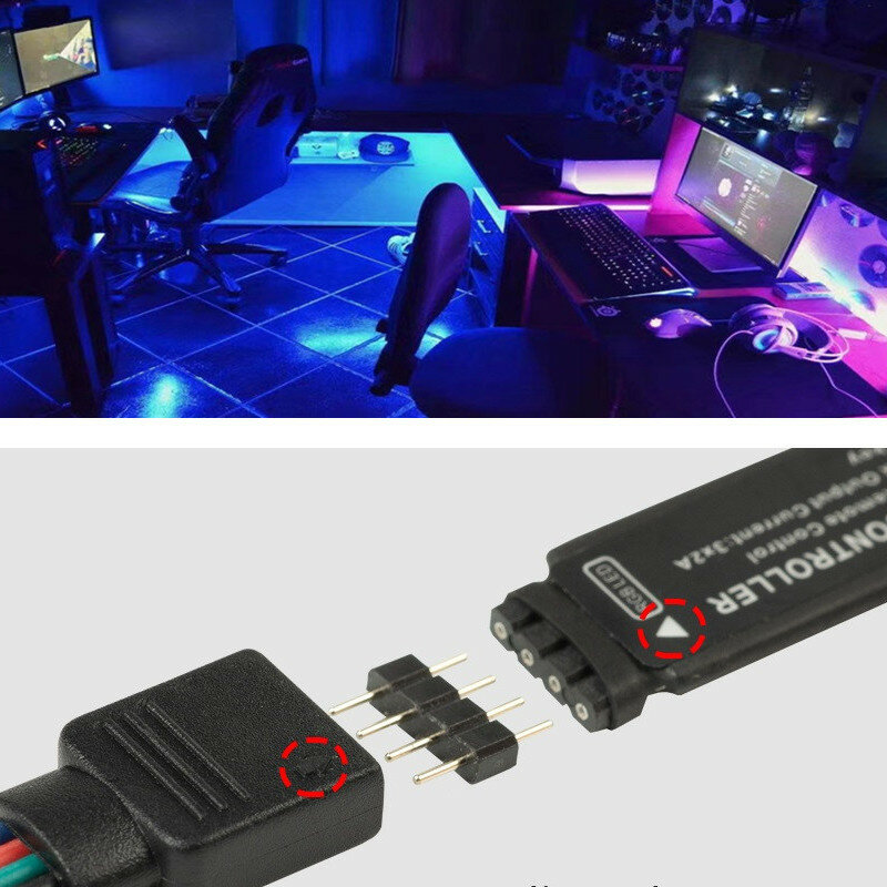 Tiras de luz LED lámpara Flexible de 1M 2M 3M 4M 5M SMD 2835 DC5V cinta Led luz infrarroja de Control de luz Cable USB 3 Control clave