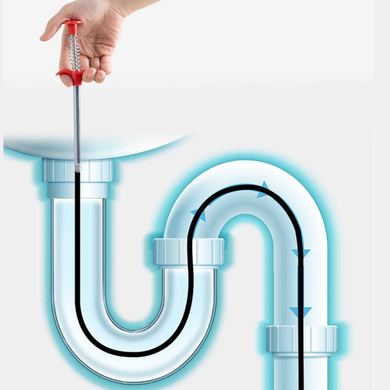 60CM Frühling Rohr Baggerarbeiten Werkzeuge Ablauf Reiniger Sticks Verstopfen Entferner Reinigung Werkzeuge Haushalt für Küche Waschbecken