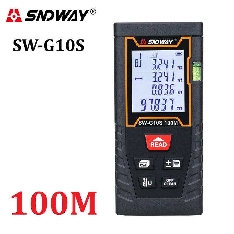 SNDWAY مقياس مسافة, 40 متر 60 متر 80 متر 100 متر جهاز قياس بناء- فحص