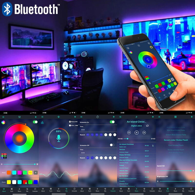 Strisce LED luci Bluetooth Luz Led RGB 5050 SMD 2835 flessibile nastro impermeabile diodo 5M 10M 15M 20M DC12V adattatore telecomando