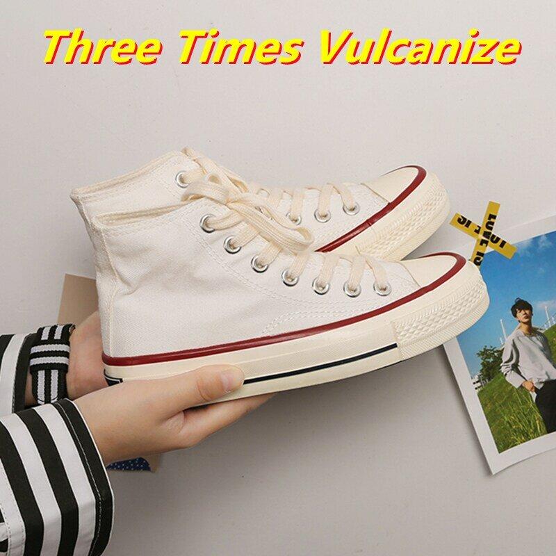 Zapatillas vulcanizadas de lona para mujer, zapatos informales vulcanizados para caminar, zapatillas deportivas para correr, 2021