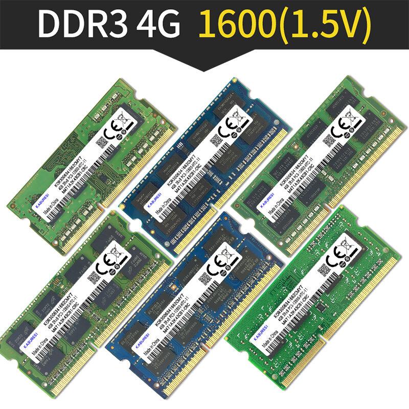 Kaburesi DDR3 2G 1066MHz 4G 1066MHz pc3-8500 so-dimm ram 4gb لأجهزة الكمبيوتر المحمول RAM دفتر الذاكرة ميموريال