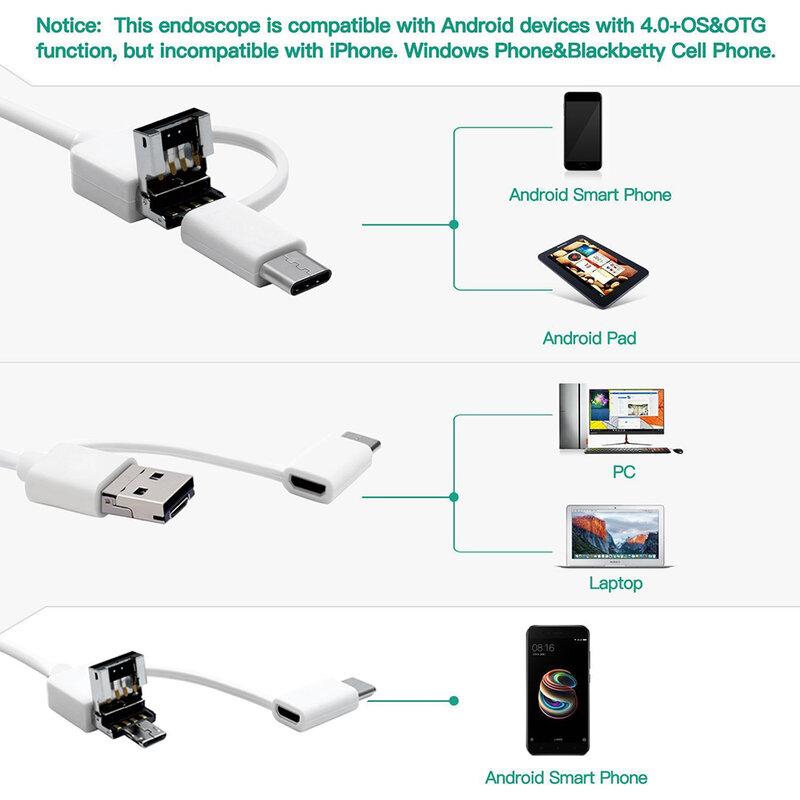منظار داخلي USB لتنظيف الأذن ، ملعقة أذن بصرية ، 5.5 مللي متر ، 0.3 ميجابكسل ، كاميرا صغيرة ، أندرويد ، كمبيوتر شخصي ، أداة بوريسكوب ، الرعاية الصح...